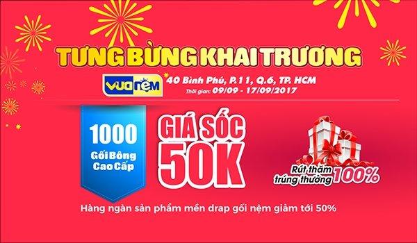 Ngập tràn ưu đãi mừng khai trương Vua Nệm 40 Bình Phú