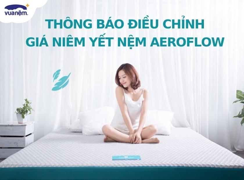 Thông báo điều chỉnh giá sản phẩm Aeroflow Fit & Aeroflow Standard