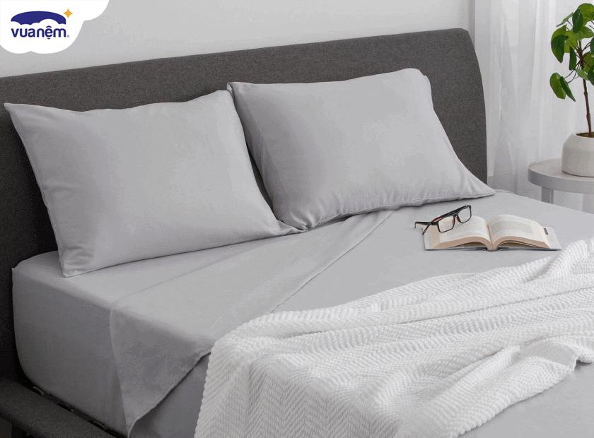 Lựa chọn drap giường màu trơn đẹp lung linh cho mùa xuân