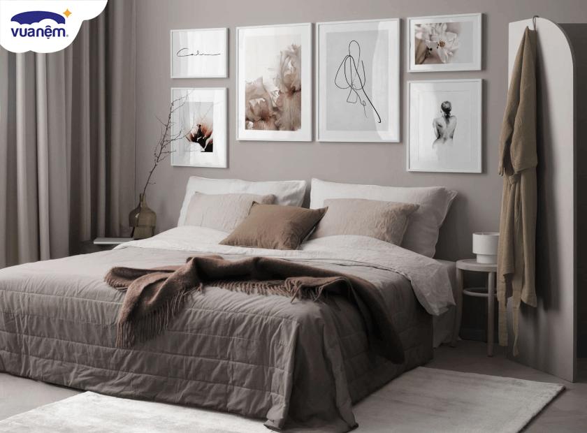 Gợi ý lựa chọn tranh treo tường phòng ngủ vợ chồng để tình cảm thăng hoa