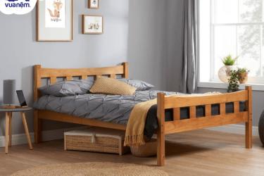 Giường gỗ 1m4 - mẫu giường đơn cho giấc ngủ trọn vẹn
