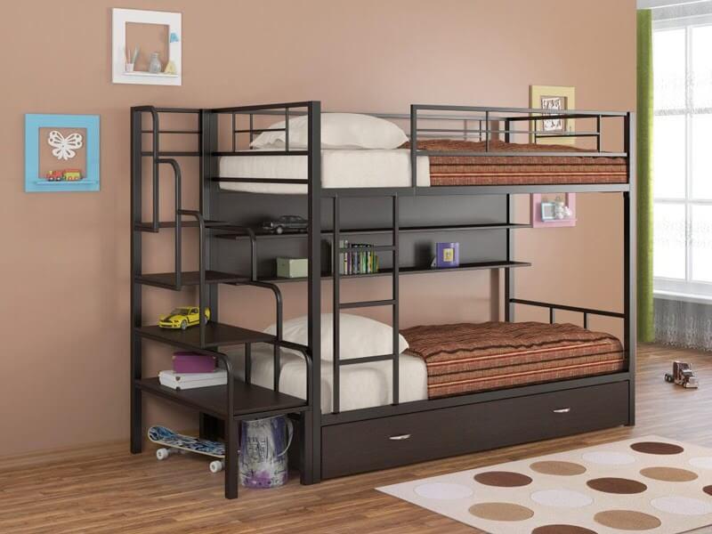 Giường tầng sắt giúp tiết kiệm diện tích