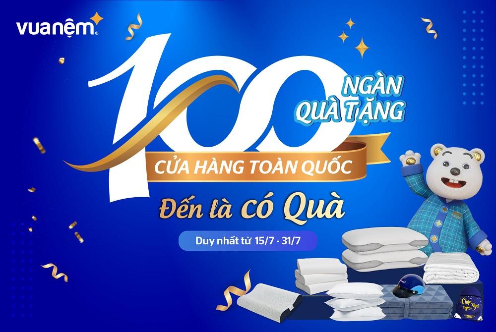 100 cửa hàng toàn quốc
