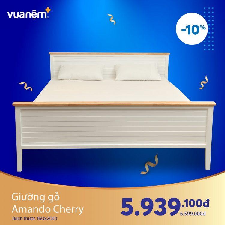 Giường gỗ Amando Cherry