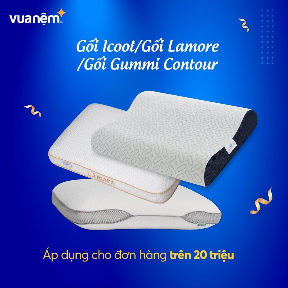 Gối Icool/Gối Lamore/Gối Gummi Contour