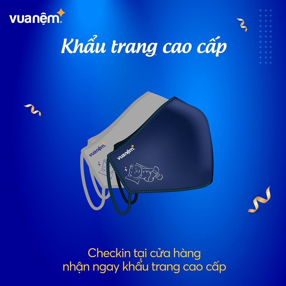 Check in Vua Nệm nhận ngay khẩu trang cao cấp