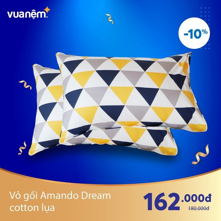 Vỏ gối Amando Dream Cotton lụa