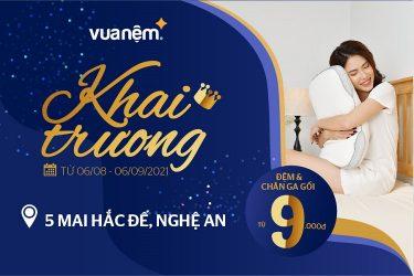 Ngập tràn khuyến mãi cùng khai trương cửa hàng Vua Nệm tại Mai Hắc Đế, Nghệ An