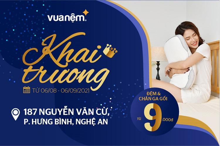 khai trương cửa hàng Vua Nệm tại Nguyễn Văn Cừ, Nghệ An