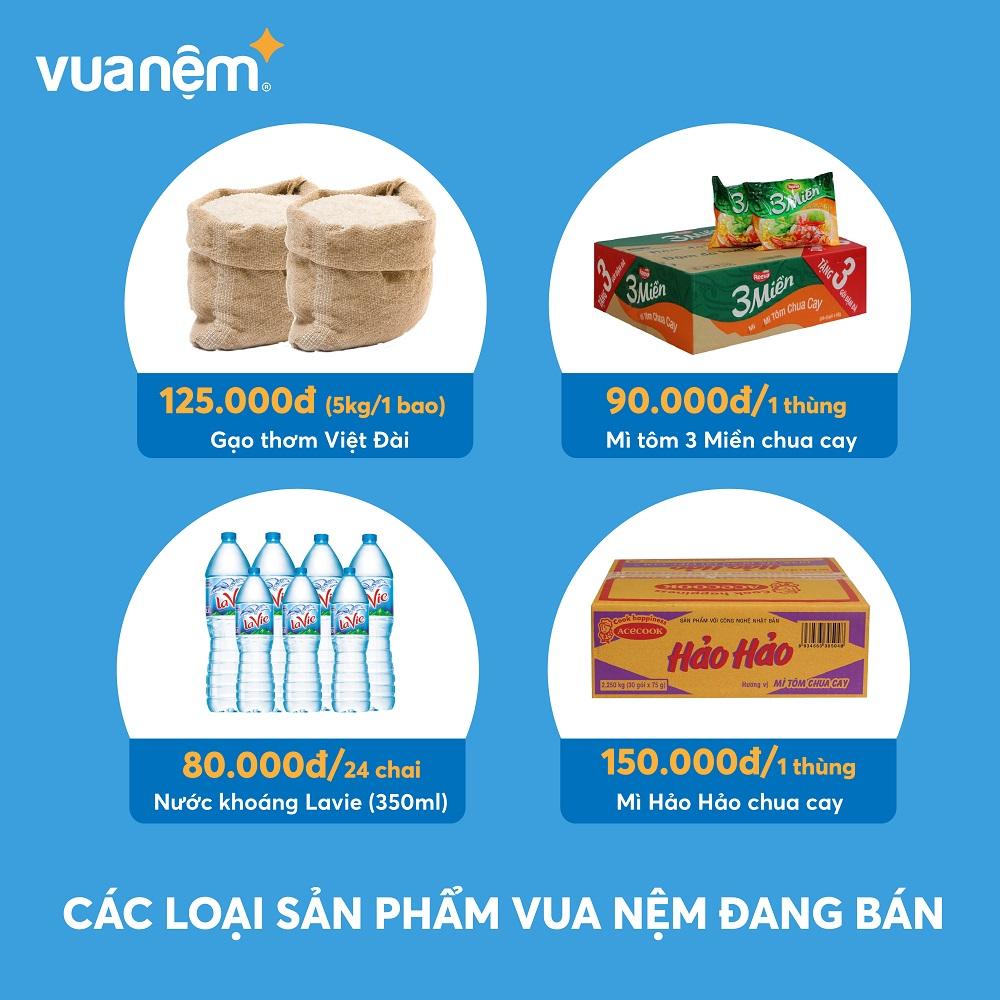 Các sản phẩm lương thực được Vua Nệm bán