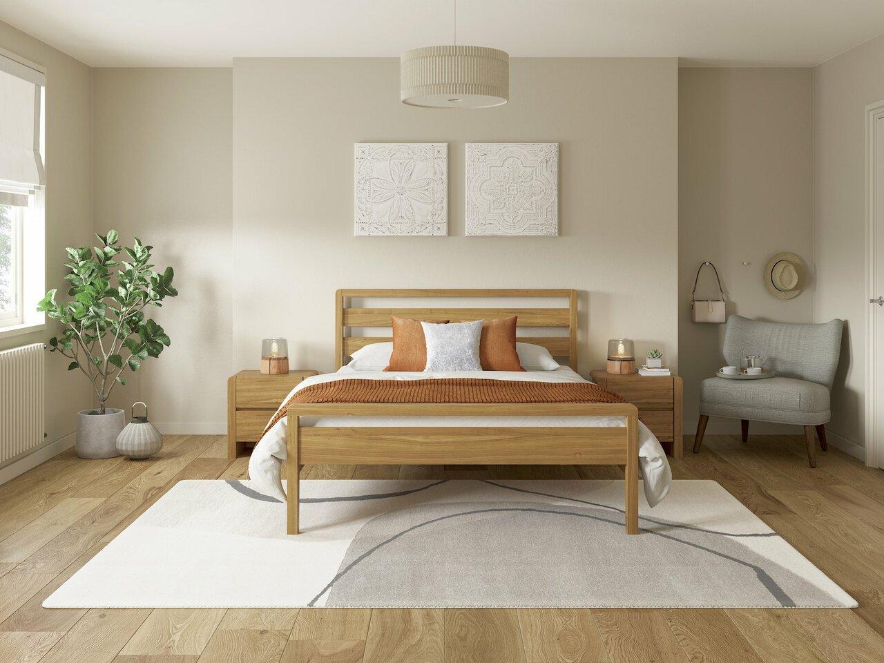 mẫu giường gỗ 1m8 2m