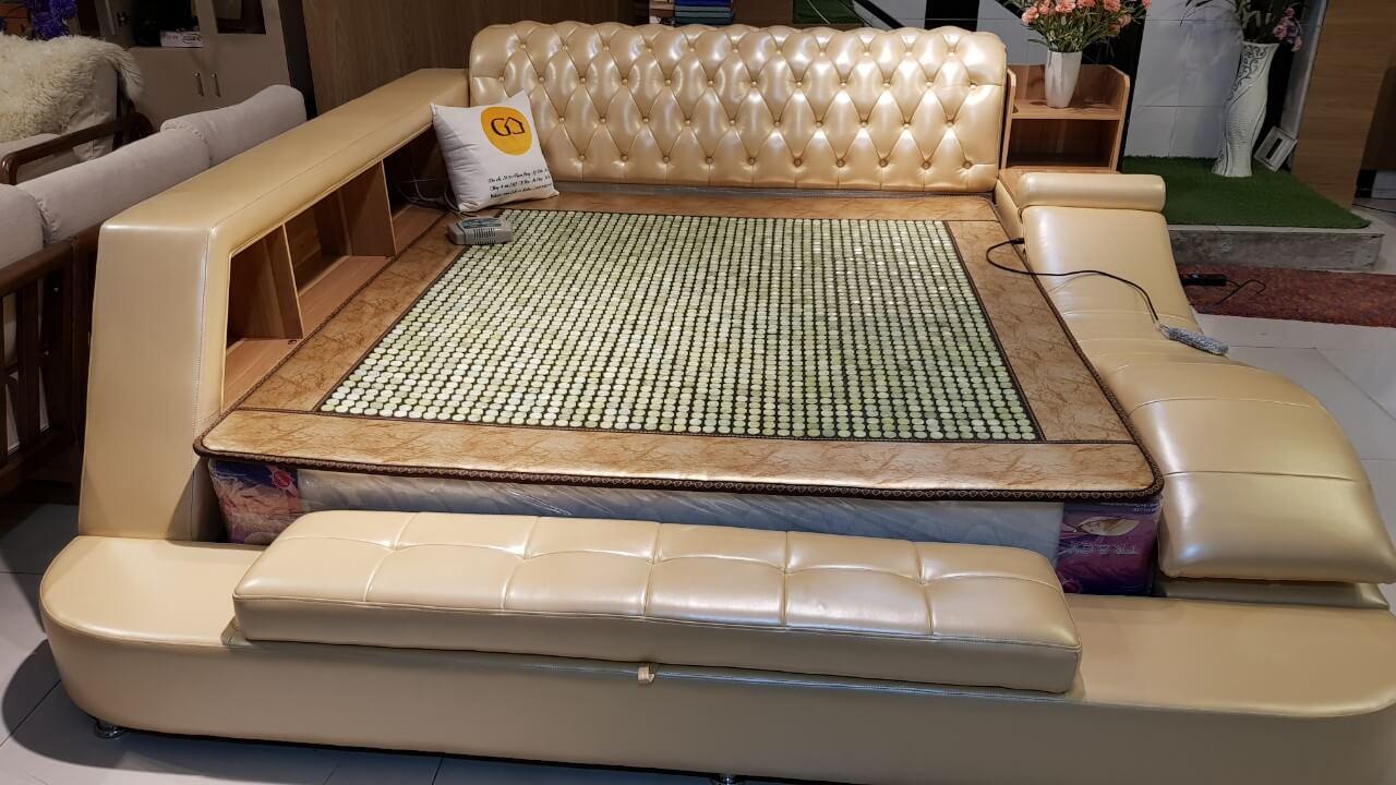 Giường massage GoBy F8608 da màu da bò T05 – 1155