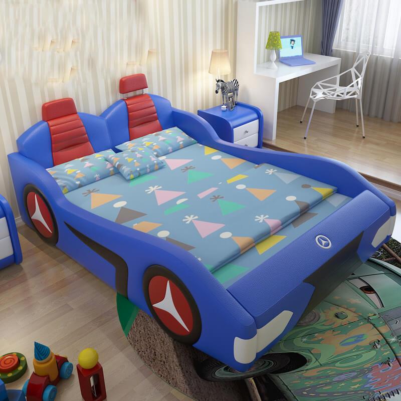 Giường trẻ em GoBy Mercerdes da màu xanh dương – 1162