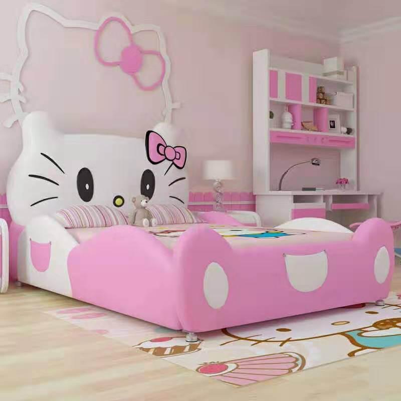 Giường trẻ em GoBy Hello Kitty da màu hồng – 1163